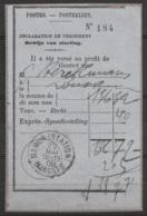"""Déclaration De Versement - 136,72 Francs Càd """"NAMUR (STATION) /23 MAI 1908/ MANDATS"""" Pour LOUVAIN - Poststempel"""