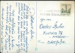 """Yugoslavia Slogan/ Flame ,,Na Vsako Posilko Postno Stevilko"""" - Slovenia Ljubljana 1973 - Briefe U. Dokumente"""
