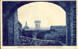 1932-Lonato Brescia Interno Del Castello Propiet� Senatore Ugo Da Como, Piega Angolare - Brescia