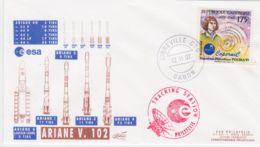 1997-Francia France Cat.Lollini K 870 Contr�le Du 102 Tir D�Ariane 4 Qui Totalise A' Elle Seule Les 3/4 Des Tirs Effectu - FDC & Commemorrativi