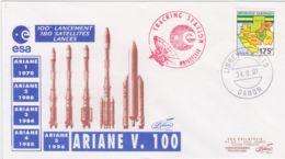 1997-Francia France Cat.Lollini K 860 XXX Ans De Programme Ariane Pour 100 Tirs Et 180 Satellites Place's En Orbite Avec - FDC & Commemorrativi