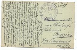 LOIRE CARTE DIJON CACHET VIOLET HOPITAL AUXILIAIRE N° 6 ST ETIENNE 1915 - Marcophilie (Lettres)