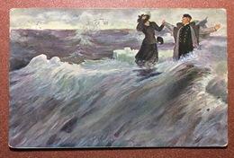 Tsarist Russia ( Empress Alexandra Feodorovna Skobelev Society) Postcard 1914s By Repin. Cople In Sea SCOPE - Illustrateurs & Photographes