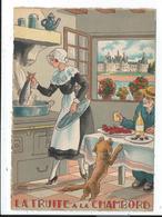 Illustration Signée Jean Paris ,nos Plats Régionaux,la Truite à La Chambord - Illustrateurs & Photographes