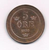5 ORE  1899  ZWEDEN / 908/ - Schweden