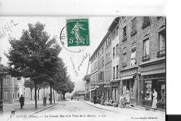 COURS N 2  GRANDE RUE ET PLACE DE LA MAIRIE  BOUTIQUES PERSONNAGES  DEPT 69 - Cours-la-Ville