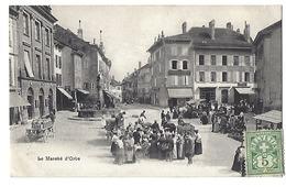 SUISSE - Le Marché D'ORBE - 1907 - VD Vaud