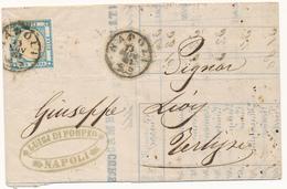 1861 NAPOLI CON I BAFFI SU 2 GRANA SU LISTINO BORSA - Naples