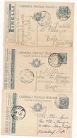 REGNO 3 CARTOLINE POSTALI PUBBLICITARIE - 1900-44 Victor Emmanuel III