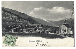 SUISSE - REKINGEN ( Wallis ) - 1907 - VS Valais