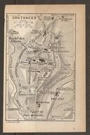 CARTE PLAN 1931 COUTANCES - ANCIEN AQUEDUC GRAND SÉMINAIRE FAUBOURGS - Topographical Maps