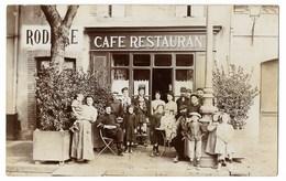 CPA 81 ALBI Carte Photo Café Restaurant RODIERE - Albi