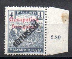 HONGRIE ARAD - YT N° 28 Bdf Signé - Neuf ** - MNH - Cote: 1,50 € - Unused Stamps