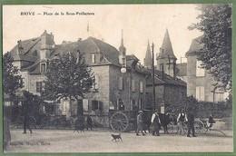 CPA Rare - CORREZE - BRIVE - PLACE DE LA SOUS PRÉFECTURE-  Belle Animation, Attelage De Boeufs - Imprimerie N. Nogret - Brive La Gaillarde