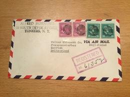 SCHW995 USA 1946 R-Brief Von Yonkers Nach Zürich - Vereinigte Staaten