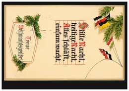 AK Weihnachtsgrüße: Stille Nacht, Heilige Nacht ..., Feldpost HAMBURG 21.12.1915 - Militaria