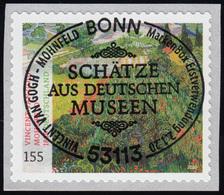 3519 Vincent Van Gogh, Selbstklebend Mit GERADER Nummer, EV-O Bonn 2.1.2020 - BRD