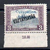 HONGRIE ARAD - YT N° 38 Bdf Signé - Neuf ** - MNH - Cote: 4,60 € - Unused Stamps
