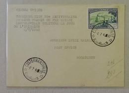 FDC 50° Anniversario Ferrovia Matadi/Leopoldville, Da Costermansville Per Mogadiscio - 02/07/1948 - 1947-60: Storia Postale
