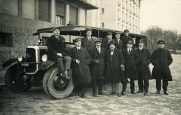 RPCP :1930, école Des Chauffeurs P-P,(autocar Panhard-Levassor, Photo Of Old Postcard, 2 Scans - Automobiles