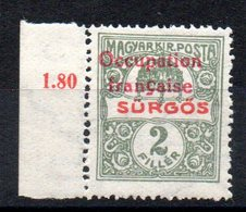 HONGRIE ARAD - YT N° 44 Bdf - Signé - Neuf ** - MNH - Cote: 1,60 € - Hongrie (1919)