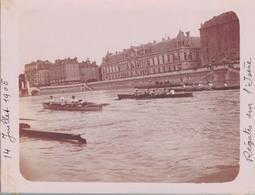 J35 - Photo Originale Début De Siècle - GRENOBLE - Régates Sur L'Isère - 14 Juillet 1905 - Places