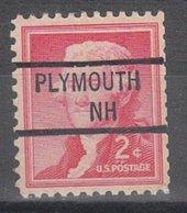 USA Precancel Vorausentwertung Preo, Locals New Hampshire, Plymouth 841 (O,OU/NH) - Vereinigte Staaten