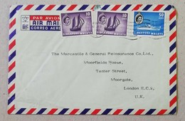 Busta Di Lettera Per Via Aerea Singapore-Londra - 12/01/1961 - Singapore (1959-...)