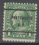 USA Precancel Vorausentwertung Preo, Bureau New Hampshire, Portsmouth 632-61 - Vereinigte Staaten