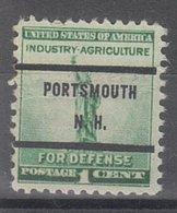 USA Precancel Vorausentwertung Preo, Bureau New Hampshire, Portsmouth 899-71 - Vereinigte Staaten