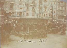 J35 - Photo Originale Début De Siècle - GRENOBLE - Défilé De Chars - Mi-Carême 1907 - Places