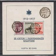 ALBANIA:  1937  ANNIVERSARIO  INDIPENDENZA  -  S. CPL. 3  VAL.  FGL. US. -  YV/TELL. 1 - Albania