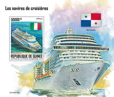 Guinea. 2019 Cruise Ships. (0515b) OFFICIAL ISSUE - Schiffe