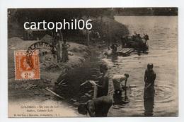- CPA COLOMBO (Ceylan / Sri Lanka) - Un Coin Du Lac 1915 - Bathers, Colombo Lake - Photo M. Del-Tufo - - Sri Lanka (Ceylon)