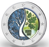 ESTONIE 2017 - 2 EUROS - INDEPENDANCE - COULEUR - FARBE - Estonie