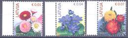 2015. Latvia, Definitives, Flowers, 3v, Mint/** - Letland