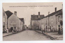 - CPA CONFLANS-SUR-LANTERNE (70) - La Porte St-Nicolas - La Route De Saint-Loup à Luxeuil (belle Animation) - - France