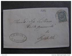 """2684 ITALIA Regno-1866- """"T 16 Torino"""" C. 5 CASTAGNETO>SASSETTA (descrizione) - Poststempel"""
