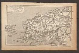CARTE PLAN 1931 BRETAGNE - DE PLOUESCAT à BREST ARGENTON KERSAINT PORTSALL ABERWRACH GUISSENY BRIGNOGAN SAUTEC - Topographische Karten