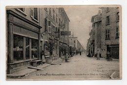 - CPA LE PÉAGE-DE-ROUSSILLON (38) - Grande-Rue Et Hôtel Du Commerce (avec Personnages) - Edition Hérain - - Francia