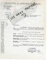 60 - Oise - VERBERIE - Facture QUIENOT - Briqueterie Et Carrières Du Murget - 1947 - REF  133A - France