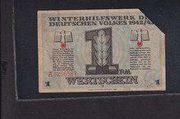 Deutschland, Germany - 1 RM - WHW Wertschein Winterhilfswerk 1943 / Alsenz B. Rockenhausen - Otros