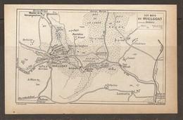 CARTE PLAN 1931 BRETAGNE - LES BOIS Du HUELGOAT MENHIR De KÉRAMPEULVEN PETIT GRAND RESTIDIOU KERBIZIEN - Cartes Topographiques