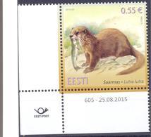 2015. Estonia, Fauna Of Estonia, Otter, 1v, Mint/** - Estonia