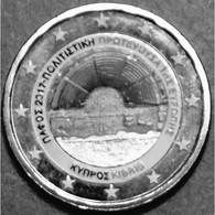 2017- CHYPRE – PAPHOS - 2 EUROS PLAQUE ARGENT - Chipre