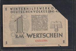 Deutschland, Germany - 1 RM - WHW Wertschein Winterhilfswerk 1942 / Alsenz B. Rockenhausen - Sonstige