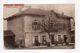 - CPA DIÉMOZ (38) - Hôtel LINAGE 1921 (avec Personnages) - Photo Sontié - - Diémoz