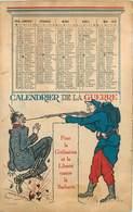 CALENDRIER DE LA GUERRE - Carte Illustrée Par Chars Crick. - Guerre 1914-18