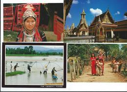Lot 12 CPM Thailande TBE Tout Scanné - Thaïlande