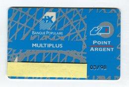 Telecarte °_  Bancaire Jetable-Banque Populaire-Point Argent-LM-03.1998- R/V - Francia